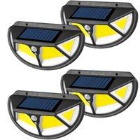 4 adet LED Güneş Işık Açık Güneş Lambası Hareket Sensörü Ile Işık Güneş Işığı Sokak Lambası Bahçe Dekorasyon Için LED Spot Işık