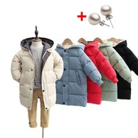 Down jacket Children's Down Coat Winter Teenage Baby Boys Girls Cotton-padded Parka & Coats Thicken Warm Long Jackets Toddler Kids Outerwear
