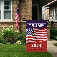 الرئيس دونالد ترامب 2024 العلم 30 * 45 سنتيمتر ماجا الجمهورية الولايات المتحدة الأمريكية أعلام مكافحة بايدن أبدا بايدن حملة حديقة مضحكة راية 1134 V2