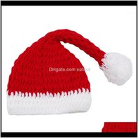 Dekorationen Festliche Vorräte Home Gardennavidad Party Rote und weiße Mütze Weihnachtsmütze für Santa Claus Kostümjahren Dekoration1 Drop Deliv
