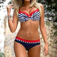 Women's Swimwear Swimming Suit Sexy Bikini Swimsuit 2021 Womens Padded Push-up Bra Set Bathing Beachwear