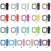 Glass+Strap for Apple Watch band 44mm 40mm 38mm 42mm Screen Protector+Case+belt Accessories Bracelet iWatch series 6 5 4 3 se