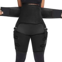 جديد 3 في 1 المتقلب الفخذ و butt رفع التدريب ملابس داخلية عالية الخصر المرأة النيوبرين الجسم المشكل حزام ضئيلة الانتهازي الساق الكورسيهات 210402
