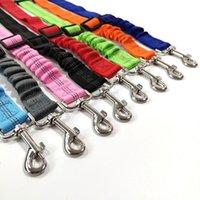 Dog Harnesses Pet Seat safe Belt 8 Color Anti shock Bungee Buffer Car Travel Accessories Adjustible Elastic