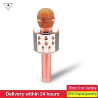 WS858 Wireless Karaoke Microfono altoparlante portatile Bluetooth Home KTV canto Palmare Music Player Mic per iOS Andriod Telefono 210610