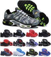 Мода Classic TN Мужские кроссовки Трехместный черный белый градиент красный камуфляж TNS плюс ультра спортивный открытый обувь дешевые Airs реквина дизайнеры тренеров кроссовки
