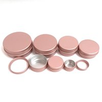 100PCS Rose Gold Screw Thread Empty Aluminum Cream Jar Tin Cosmetic Lip Balm Containers Nail Decor Crafts Pot Refillable Bottles