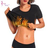 Neoprene Sanna Hot Sudor Top para Mujeres Cuerpo Shaper Cintura Entrenador Entrenamiento T Shirt Peso OSS FAT FAT FABLEWEAR