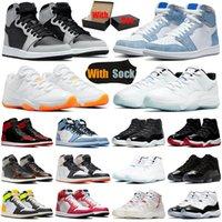 حذاء كرة السلة الرجالي من air jordan 1s 11s 1 11 Jumpman Shadow 2.0 Hyper Royal Bright Citrus Bred Patent UNC الرجال النساء أحذية رياضية رياضية