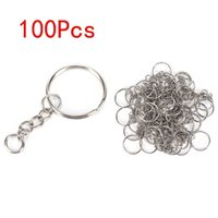 100pcs 25mm Key Chains Tags Accessories Rings Plated Steel Round Split Ring for Pet Id Tags Pet Dog Cats Tag Collar Accessories H0914