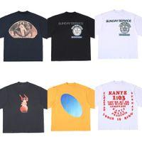 Sommer Kanye West High Street WASHED T-Shirt Männer Frauen Baumwolle Lose Hip-Hop Jesus ist König T-Shirt Schneller Versand X0726