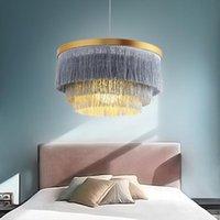 Kolye Lambaları Modern Avize Tavan Işık Kapalı Aydınlatma Gölge Oturma Odası Avizeler Ev Dekoratif Püskül Işıkları