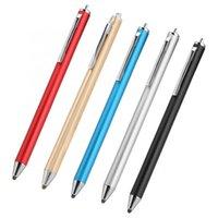 Универсальное сетчатое волокно емкостный стилус ручка металлический сенсорный экран для смартфона планшетный карандаш ПК