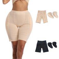여성 팬티 여성 복서 반바지 스폰지 엉덩이 패드 통기성 탄력있는 속옷 Buenhancer 패드 재사용 가능한 액세서리