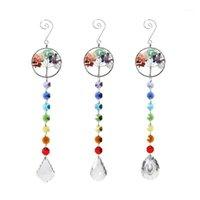 Perlas de cristal arco iris colgante artesanía carro de bebé adornos de caravanas de viento decoración artesanía colgante1