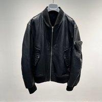 2021 Senaste Äkta Lamm Skin Fur Läder Man Och Kvinnor Vinter Jackor