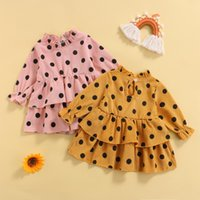 Girl's Dresses Toddler Baby Girls Corduroy Layered Dress Autumn Cute Dots Print Long Sleeve Casual For Infant Kids Fashion Outfit Clothes