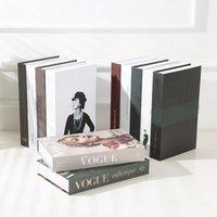 Openable Fake Home Decor Book Decoration Storage Box Coffee Table Accessories Modern L0323 H4FA