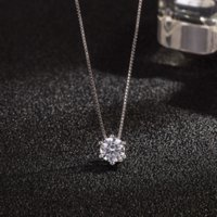 925 Sterling Silver Y Flash Diamond Zircon Pendant Exquisite Necklace Clavicle Chain Valentine's Day Gift