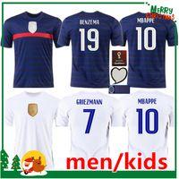 Euro 2021 cup BENZEMA MBAPPE GRIEZMANN soccer jersey POGBA GIROUD FRANCE KANTE Maillot de foot equipe Maillots football shirt uniforms la men kids kit women