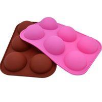 قوالب الخبز نصف الكرة الشوكولاته العفن السيليكون الخبز العفن العفن دونات الكعك كعكة دونات قوالب أدوات المطبخ الخبز لكعكة 538 S2