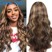 Lace Wigs Highlight Wig Human Hair Front 180% Remy Brazilian Body Wave 13x4 Transparent Frontal For Women