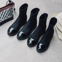 Kış yüksek topuk ayakkabı kadın çizmeler streç ayak bileği femme zapatos mujer