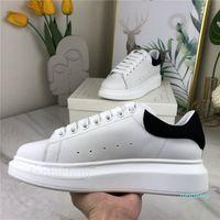 2021 Kutusu Ile Erkekler Rahat Ayakkabılar En Kaliteli Mat Deri Platformu El Yapımı Chaussures Kadın Elbise Ayakkabı Gri Kadife Scarpe Spor