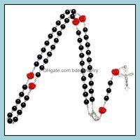 Pendant Necklaces & Jewelryprayer Beads Catholic Rosary Jesus Cross Necklace Pendants Chains Fashion Jewelry Gift For Women Men Black Purple