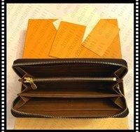 2021 محفظة محفظة سستة حقيبة إمرأة محافظ جلد بطاقة حامل جيب طويل المرأة حقيبة عملة المحافظ مع مربع