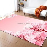Carpets Romantic Peach Blossom Living Room Wedding Decoration Mats Adults Bedroom Soft Flannel Bedside Area Rug Pastoral Carpet