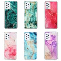 Bling Folion Marble Soft TPU Cases voor Samsung Galaxy S21 Ultra A12 A02S A42 A52 A72 5G F62 XIAOMI 11 10T Lite Pro vergulden Sequin Sparkle Stone Rock Confetti Flake Covers