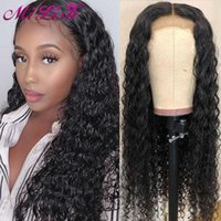 Lace Wigs Water Wave Front Human Hair For Women Milisa 4x4 Closure Wig Natural 30 Inch