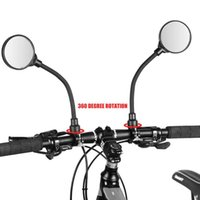 Bike Groupsets 1pc Bicycle Rearview Mirrors 360 Degree Rotation MTB Handlebar Flexible Rear View 22-32mm Mountain Accessories