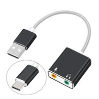 Smart Home Control External USB Sound Card Type C   To 3.5mm Jack Audio Adapter Earphone Micphone For Macbook Computer Laptop PC