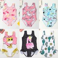 Cactus Print Baby Girl Swimsuit One-Piece Ruffle Children Swimwear 3-8 Years Cute Kids Girl Bathing Suit Child Summer Beach Wear 944 Z2