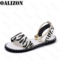 Summer Women's Beaded Pearly Sandals Slippers Women Ladies Flats Sandal Flip Flop Casual Flat Slingback Shoes