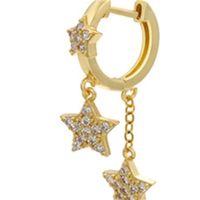 Canner Fashion Luxury Real 925 Серьги стерлингового серебра для женщин Кристалл Циркон Серьги Ювелирные Изделия Минималистский подарок 1415 Q2