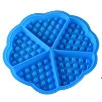 Molde de la galleta de silicona Moldes para hornear Forma de corazón Molde de muffin antiadherente DIY Cake Bakeware Accesorios de cocina DHE6939