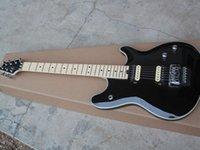 G22 style double rocker electric guitar black varnish double open pickup