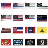 New Home America Stars and Stripes Police Flags 2nd Emendamento Vintage Bandiera Americana Poliestere USA Banner confederati Zza7103