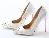 DESIGNER women solid color elegance party pumps 12cm height stiletto sandals with rivets