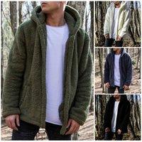 Solid Hoodies Men Winter Jacket arrival Thick Men's Hooded Sweatshirt Male Warm Fur Liner Sportswear Tracksuits Mens Coat