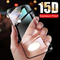 Vidro protetor 15D para Samsung Galaxy A51 A50 A40 Protetores de tela FIT 10 A20 A30 A60 A70 A80 A90 M10 M20