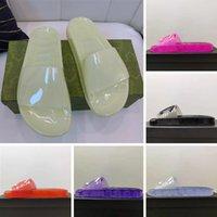 2021 Femmes Sandales Pantoufles Slide Broderie Designers Diaposibles Sandal Floral Brocart Flip Tongs à rayures Cuir Caoutchouc Caoutchoucers Pantoufles Slider avec 369