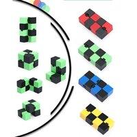 ماجيك لانهائي مكعب abs fingertip الضغط الحسي التعليمية لعبة التوحد جيب القطع التحفية إنفينيتي فليب لغز القلق الإغاثة H41SDD5