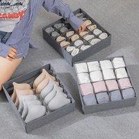 Storage Drawers Luluhut 7 Grids Bra Organizer 16 24 Socks Underwear Box Wardrobe Drawer Organizers Foldable Case For