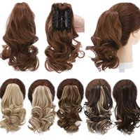 Synthetic Wigs S-noilite Short Wavy Ponytail Hair Black Brown Pony Tail Claw Jaw In Hairpiece Clip For Women