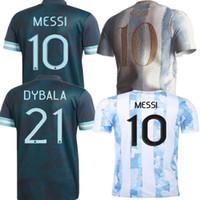 Men's T-Shirts Adults 20 21 ArgentinaES Shirt KUN AGUERO L. MARTINEZ MARADONA DI MARIA OCAMPOS OTAMENDI MESSI DYBALA Top Quality