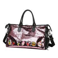 70%Korean Sequin handbag women's large capacity short distance travel fashion simple one shoulder luggage Yoga bag